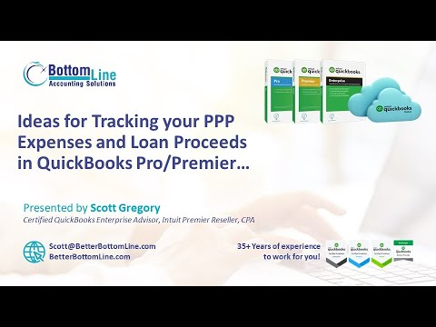 Ideas for Tracking Your PPP Expenses/Loans in QuickBooks Pro/Premier