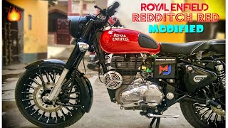 Royal Enfield Classic 350 | Modified Redditch Red Royal Enfield | Dholki Silencer Sound | B 4 Bullet