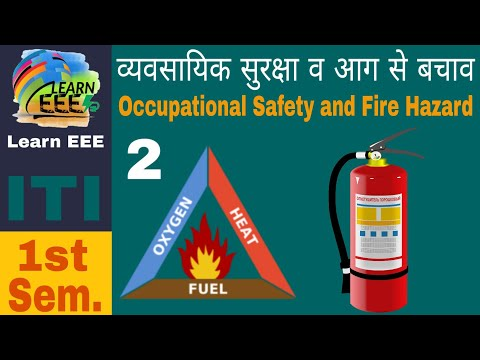Occupational Safety and Fire Hazard in Hindi, Safety and Health in Hindi, ITI Electrician Theory 2