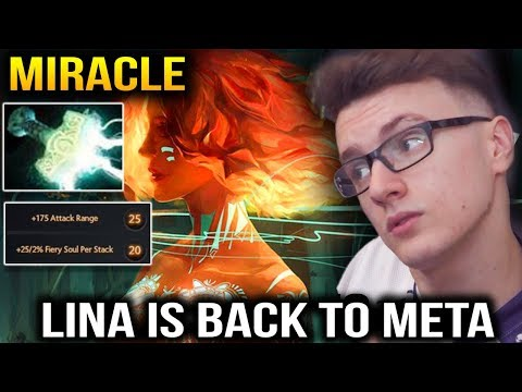 MIRACLE LINA IS BACK TO META Dota 2 7.14 patch thumbnail