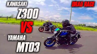 MT03 VS Z300 Batalla a Muerte!! Drag Race