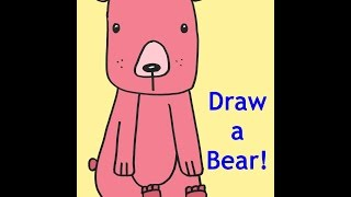 How To Draw A Bear Free Drawing Tutorial For Kids From Doodleacademy