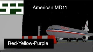 ROBLOX | American MD11 | Red-Purple-Yellow | SFS
