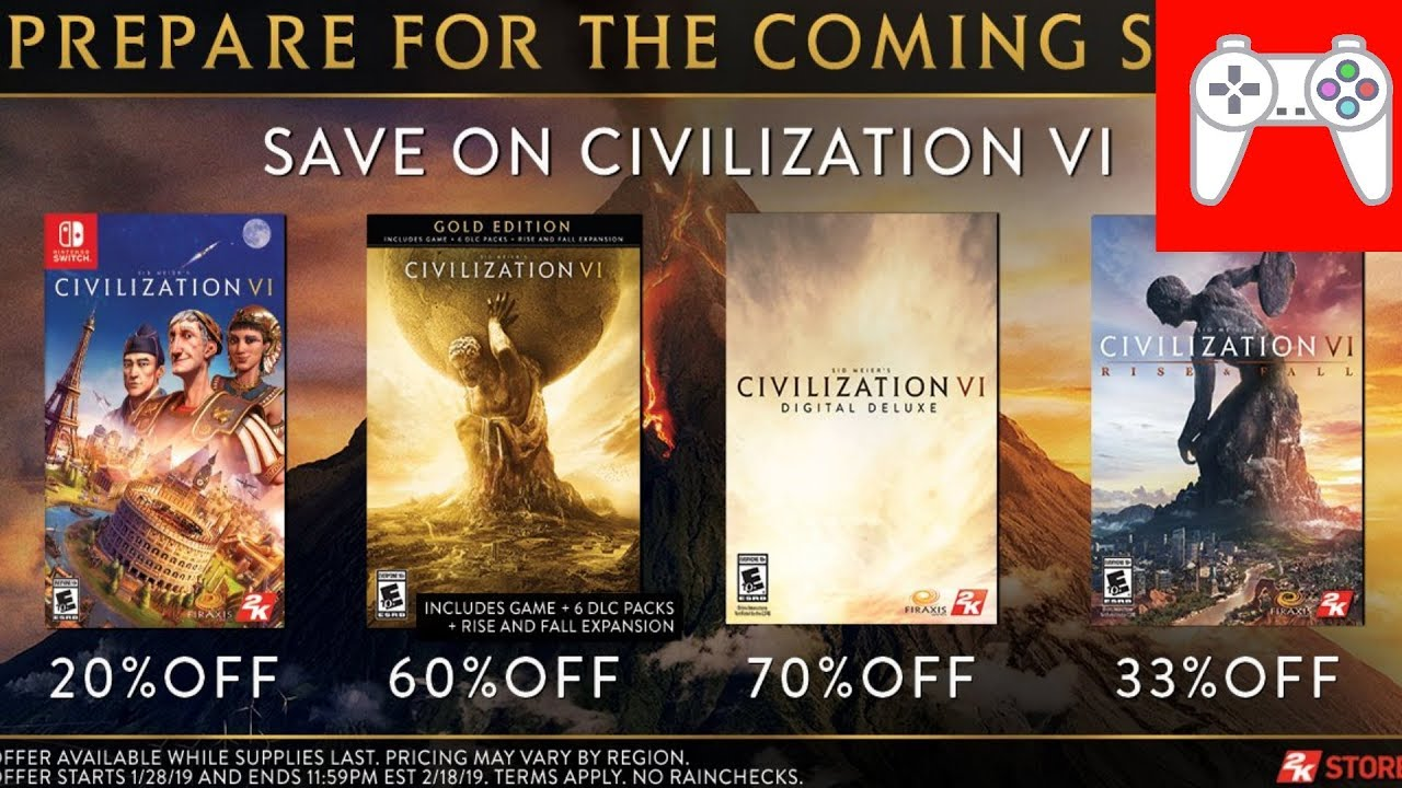 Gathering Storm is coming to the Switch? (+ Civilization 6 on sale now!)