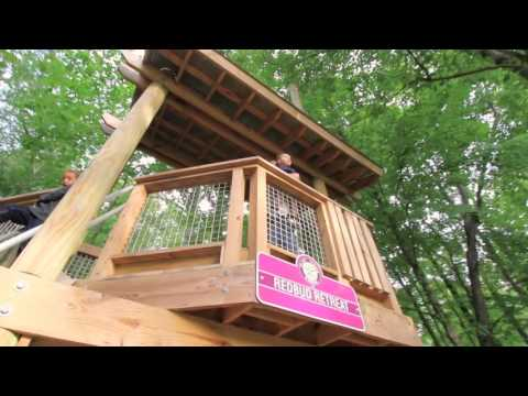 Tree Houses At Flat Fork Creek Park In Fishers, Indiana