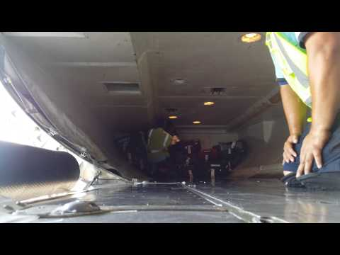 Me and Chris loading a 737-800! IAH