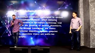 �������� ���� Sasha Ivanov (Waves platform) and Dmitry Faller introduce opening of the Blockchain Institute ������