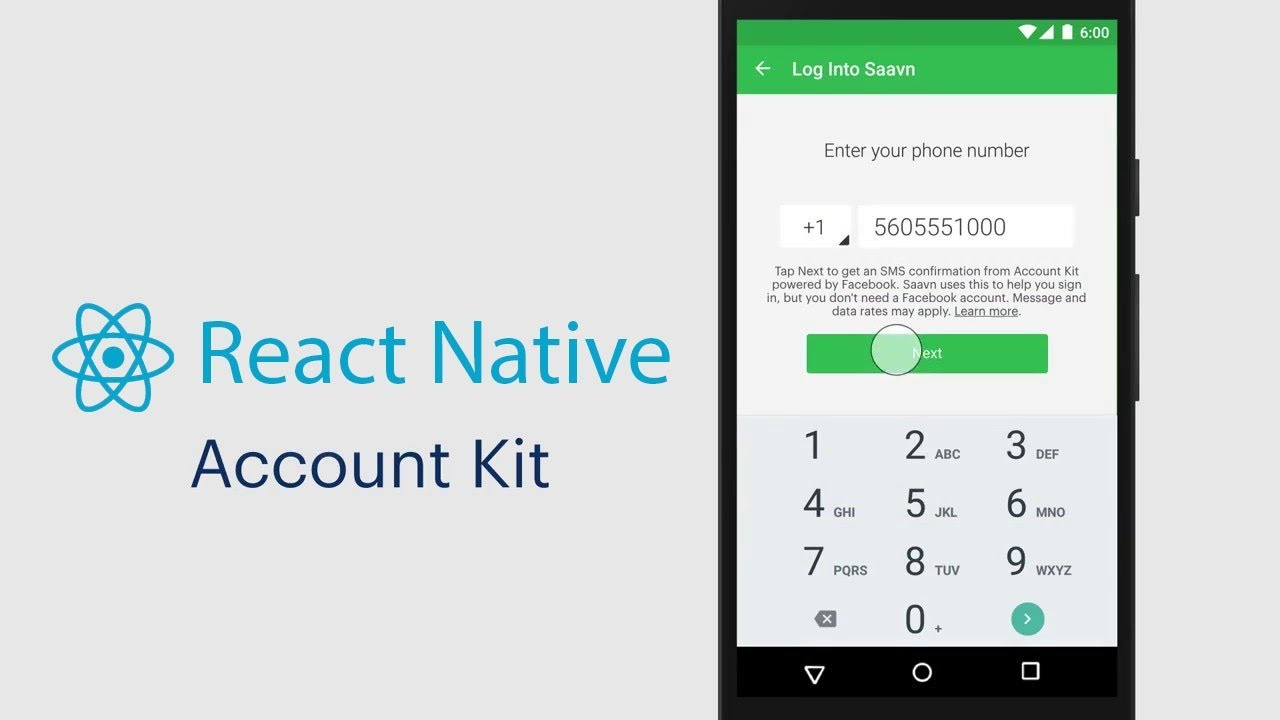 Facebook Account Kit with React Native - YouTube