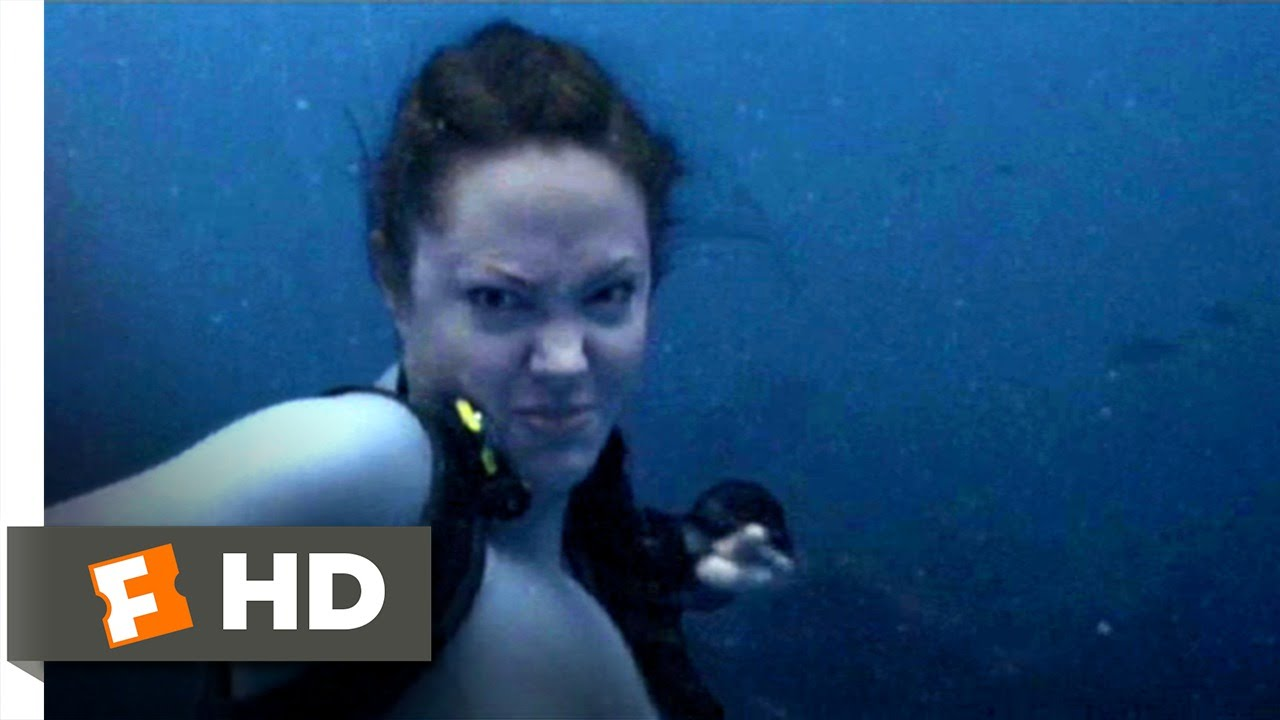 lara croft tomb raider 2 19 movie clip shark punch