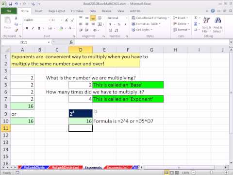 excel-2010-business-math-14:-exponents-in-excel-formulas-and-formatting