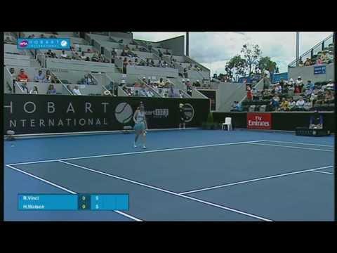 Roberta Vinci vs Heather Watson: Full-match replay (QF)- Hobart International 2015