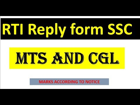RTI reply from ssc about SSC MTS and CGL