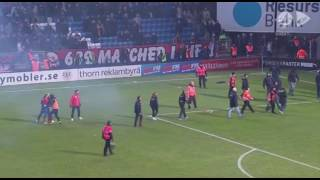 SWEDISH FOOTBALL HOOLIGANS ATTACK LEGEND HENRIK LARSSON'S SON JORDAN LARSSON