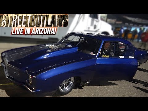 Street Outlaws Doc Love Drag Racing at Street Outlaws Live Event in Tucson Arizona