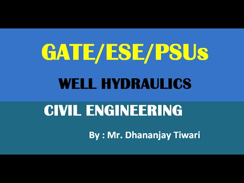 Well Hydraulics Lecture for GATE/ESE Civil Engineering-CE