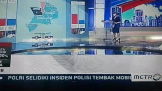 """Hasil Quick count sementara Pilkada DKI """"sumber metro tv"""""""