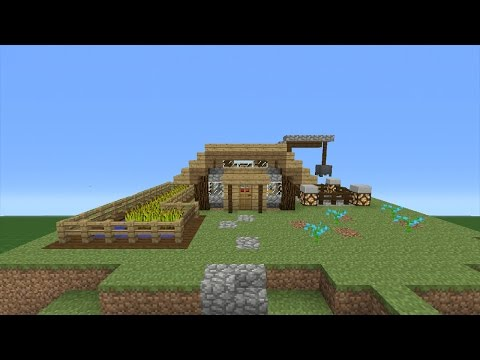Minecraft Tutorial: How To Make A Mining Hut