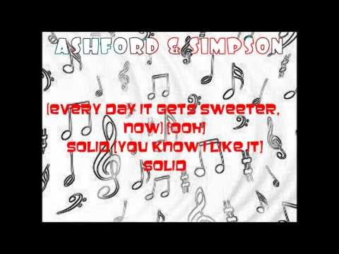 Lyrics to Solid  Ashford & Simpson