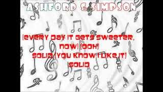 Lyrics to Solid by Ashford & Simpson