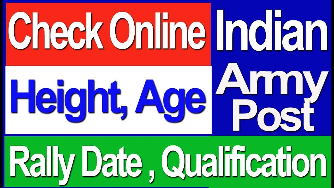 Indian army all india post rally date age height qualification online portal also rh youtube