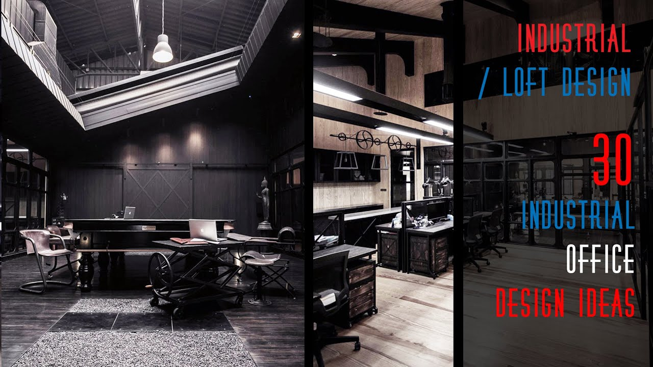 30 Industrial Office Design Ideas   YouTube