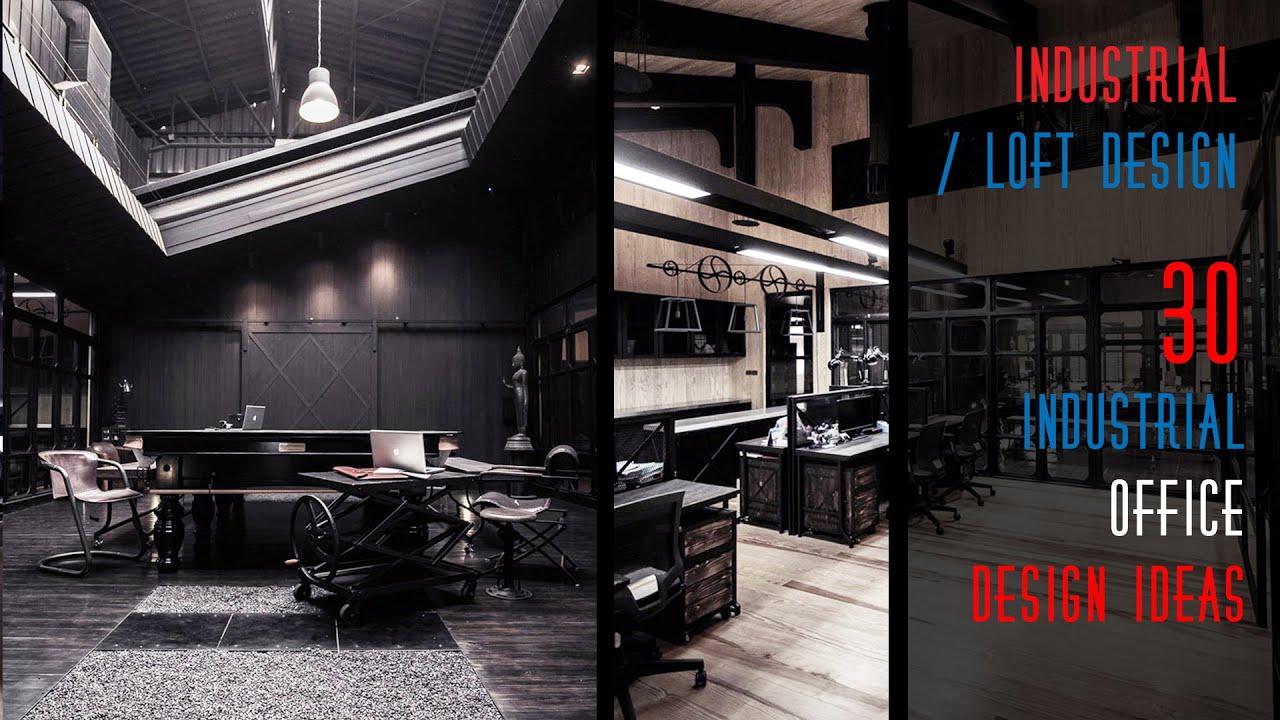 30 Industrial Office Design Ideas - YouTube