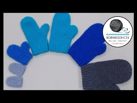 Mittens Newborn And 3-6 Month Crochet Tutorial