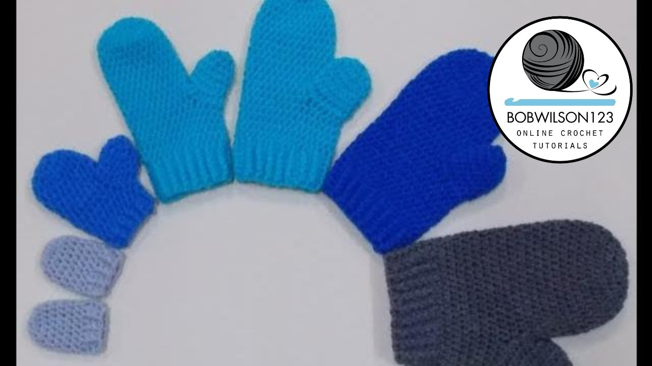 Mittens Newborn and 3-6 Month Crochet Tutorial - YouTube