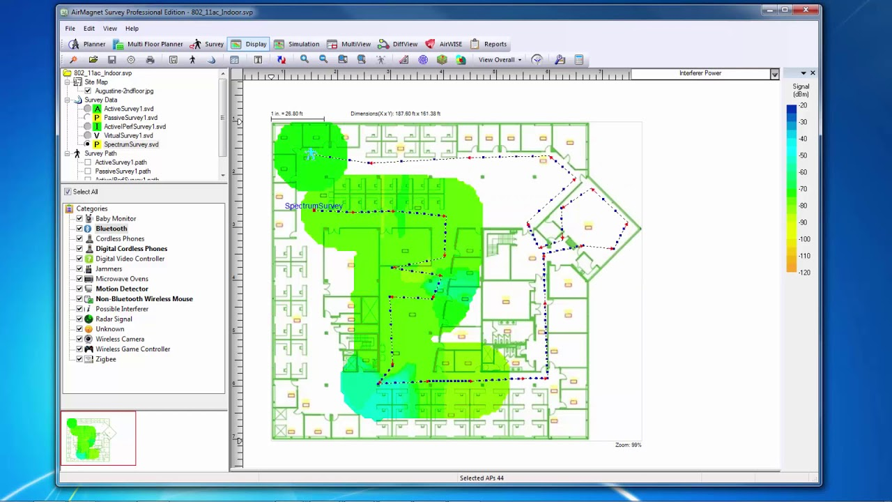 Netscout: AirMagnet Survey PRO – The Heatmap Types