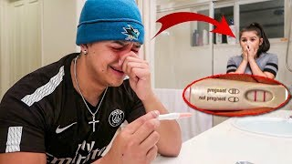 POSITIVE PREGNANCY PRANK ON BOYFRIEND!! **CUTE REACTION**