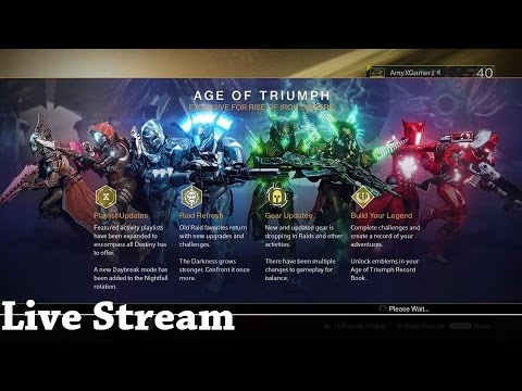 destiny age of triumph iron banner live stream - youtube