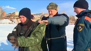 13 02 2018 Співробітники МНС знімають міні-фільми на Іжевському ставку