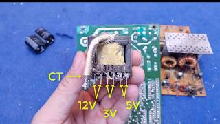 Simple 200W Inverter With Transformer From  OLD PC PSU | No Winding Transformer