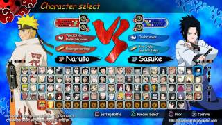 Naruto Shippuden Ultimate Ninja Storm 3 Character Roster Fan Made