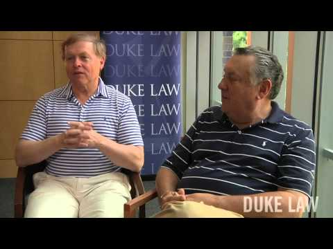 John R. Wester '72 & Michael L. Tanchum '72 talk about the Duke Law faculty