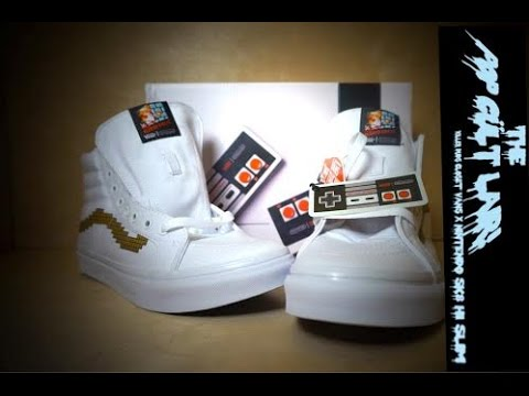 d8fb8c05bc Vans x Nintendo SK8 Hi Console Gold White Super Mario Bros. Shoe Unboxing!  - YouTube