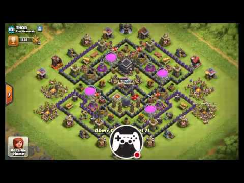 Best loot attack strategy for Th7 in gold 1