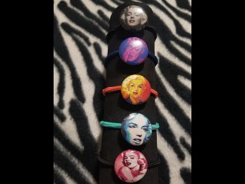DIY - Marilyn Monroe Hair Ties - Button Maker