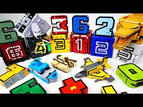 Power Rangers Doubutsu Sentai Zyuohger Animal cube and Number transfomers combine play  DuDuPopTOY