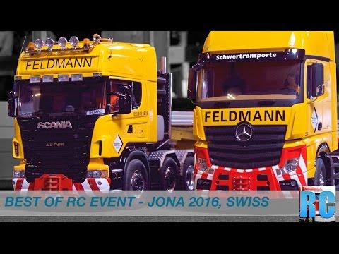 BEST OF SWISS RC TRUCK EVENT - DRIVE SHOW JONA 2016, SWITZERLAND - BIG EXCAVATOR, TRUCKS, TRACTORS