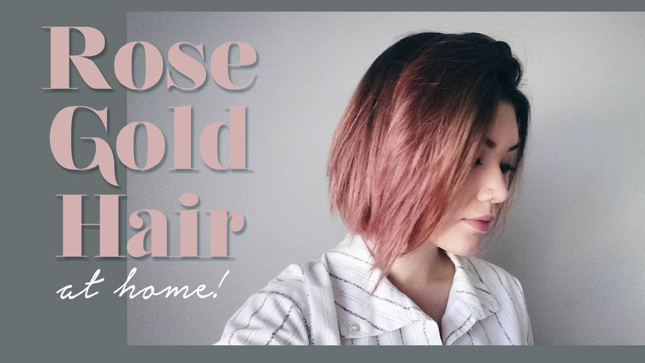 Rose Gold Hair How To Demo Youtube