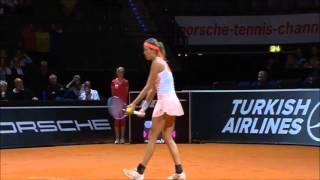 Simona Halep vs Garbine Muguruza - STUTTGART 2015 Highlights