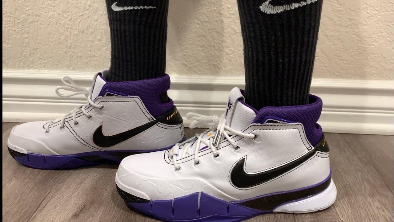 b60bf0c7ccf0 Nike Kobe 1 Protro 81 Point Game On-Feet + Sizing - YouTube