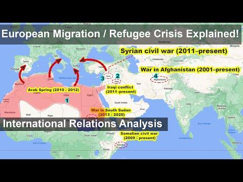 European Migration Refugee Crisis Explained | Middle East Crisis | International Relations Analysis