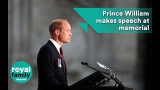 Prince William makes a speech at Amiens centenary memorial service