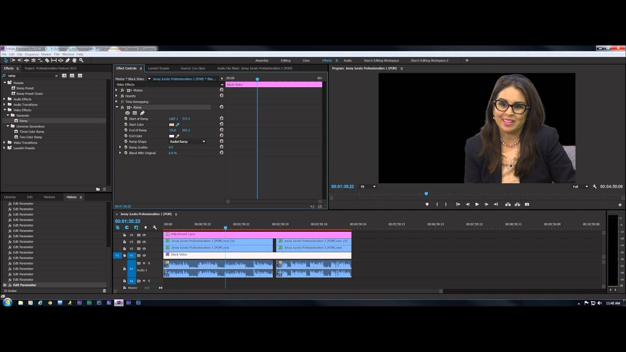Premiere Pro CC 2015 Exercise: Keying a Green Screen Interview ...