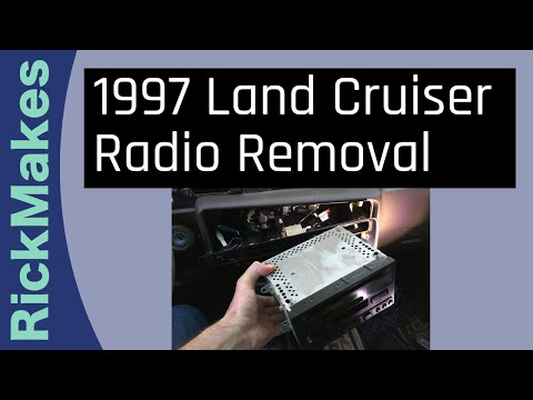 1997 Land Cruiser Radio Removal