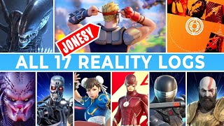 ALL 17 Reality Logs from Jonesy (Season 6 Teasers, Alien, Flash, Tron, Street Fighter,...)