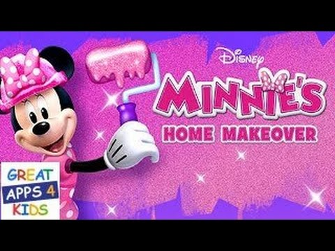 minnie 39 s home makeover activity app for kids youtube