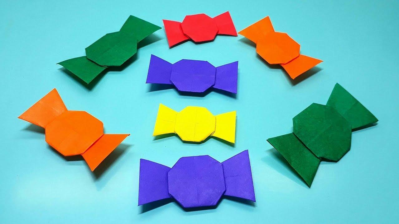Origami Candy Shaped Box Tutorial | Geschenke schön verpacken ... | 720x1280